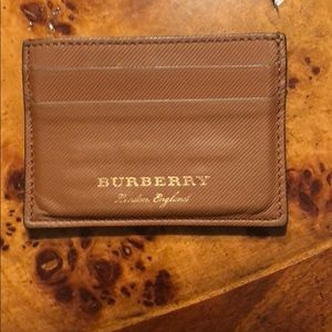 Leather Burberry Card Case
